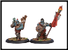 Trollblood Kriel Warrior Standard Bearer & Piper